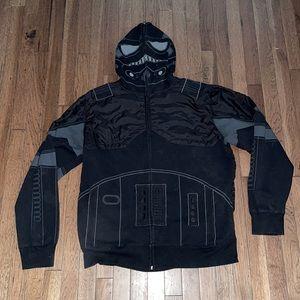 XL Star Wars zip up tie fighter pilot hoodie.